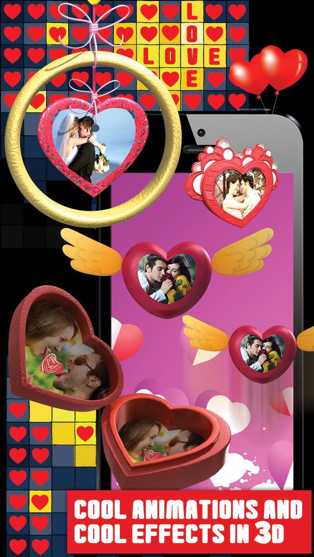 Valentine Romantic 3D Heart Gift screenshot 2