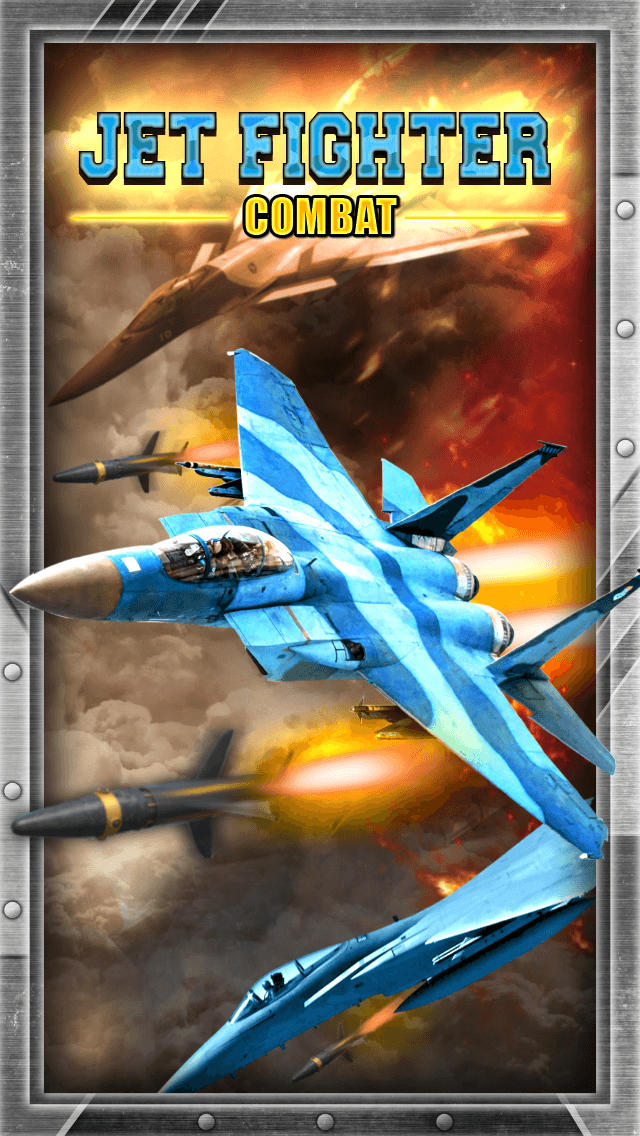2D Jet Fighter Combat Game - Free War Jets Fighting Shooter Games screenshot 1