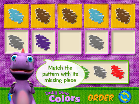 Colors with Dally Dino HD - Preschool Kids Learn Colors with A Fun Dinosaur Friend screenshot 2