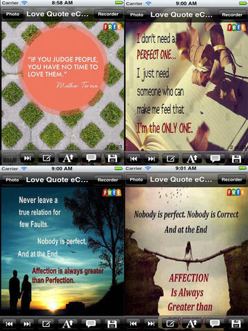 Love Quotes e-Cards. Customize and send love quote e-cards screenshot 7