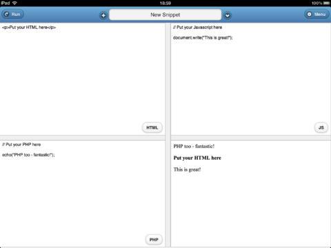 Offline Coder - náhled