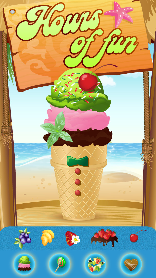 My Little Frozen Ice Cream Sundae Maker Game Advert Free screenshot 3