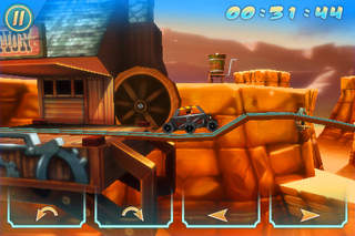 Wild West 3D Rollercoaster Rush FREE screenshot 1