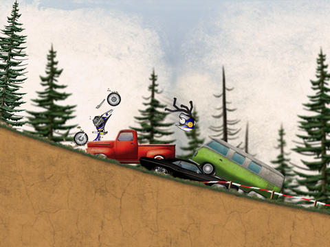 Stickman Downhill - Motocross screenshot #3