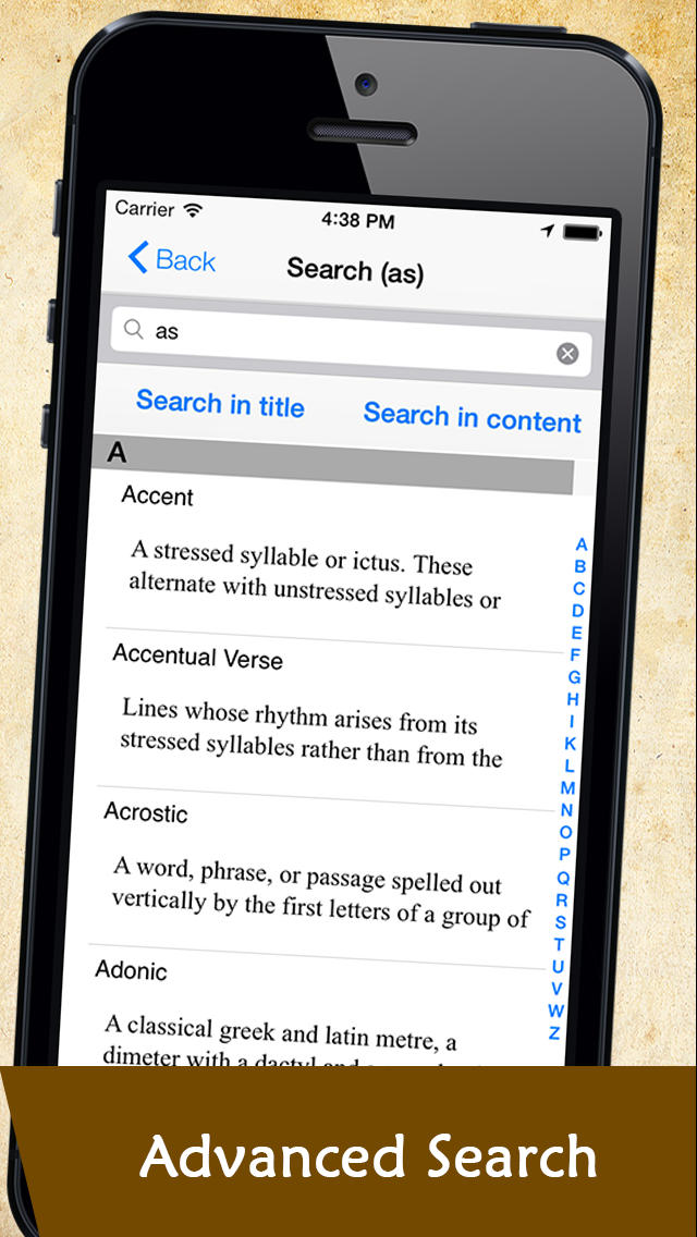 Glossary of Poetry Terminology screenshot 5