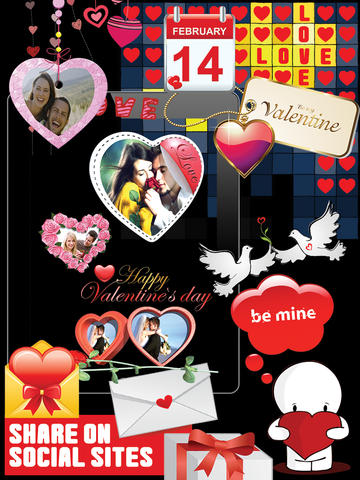 Valentine Romantic 3D Heart Gift screenshot 10