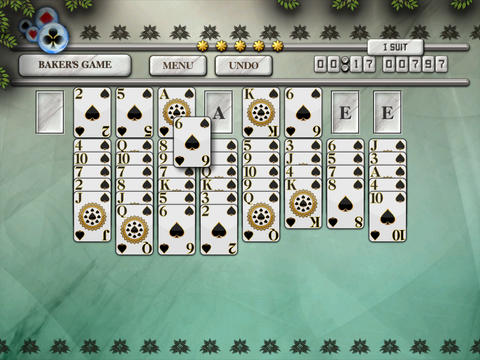 Baker's Game Solitaire HD Free - The Classic Full Deluxe Card Games for iPad & iPhone screenshot 7
