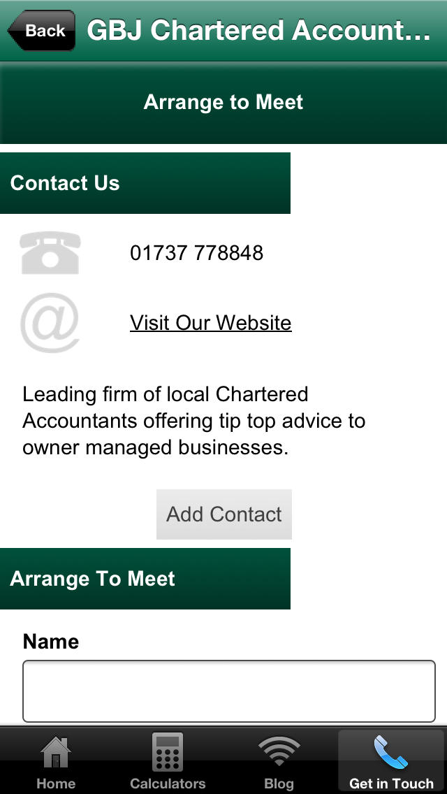 GBJ Chartered Accountants screenshot #4
