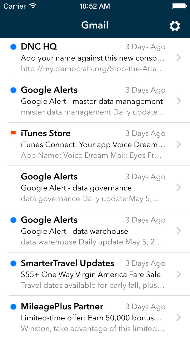 Voice Dream Mail screenshot 4
