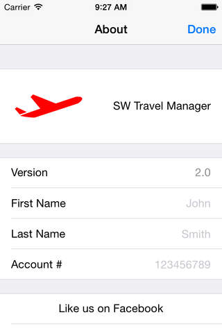 SW Travel Manager - náhled