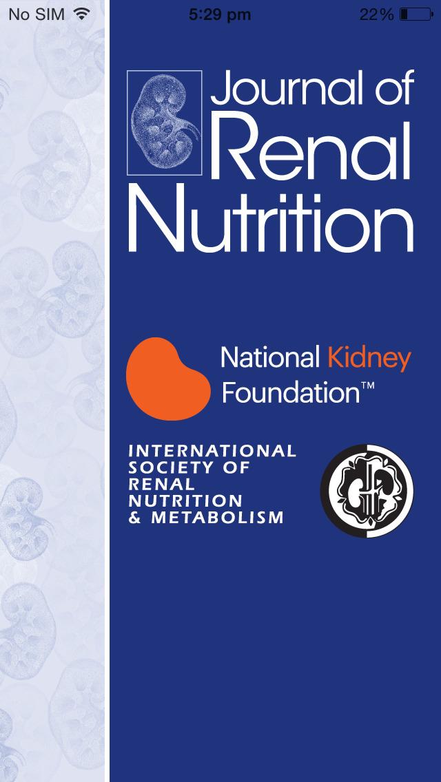 Journal of Renal Nutrition screenshot 1