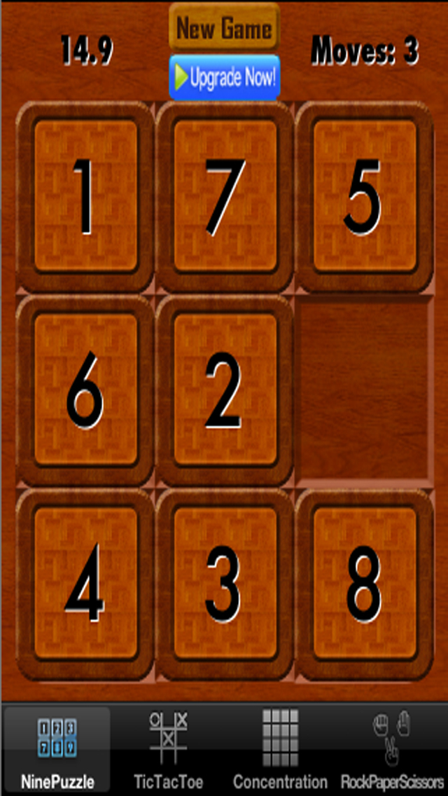 Child's Play Games - Tic-Tac-Toe,9-Puzzle,Concentration and Rock-Paper-Scissors screenshot 3