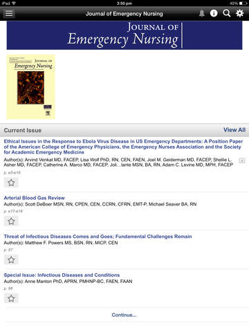 Journal of Emergency Nursing screenshot 9