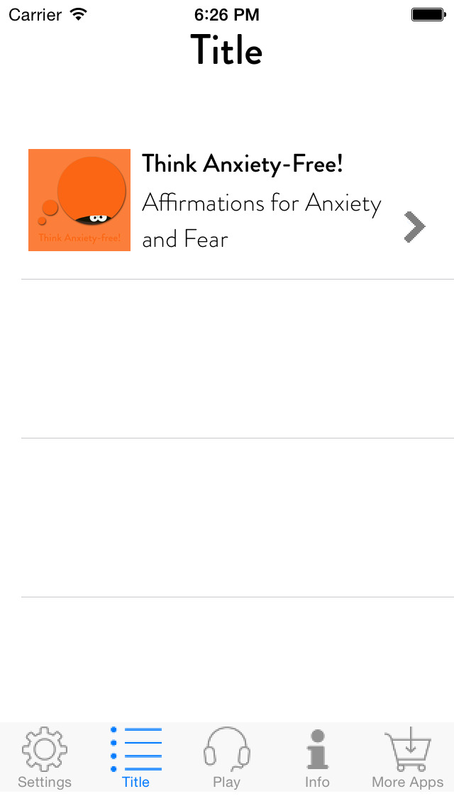 Think Anxiety-Free! Affirmations for Anxiety and Fear screenshot 2