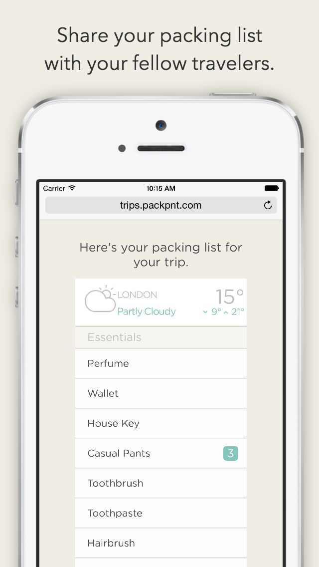 PackPoint Travel Packing List screenshot 4