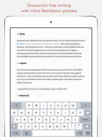 1Writer - Markdown Text Editor screenshot 6
