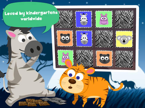 Play with Wild Animals - The 1st Cartoon Memo Game for a toddler and a whippersnapper free screenshot 8