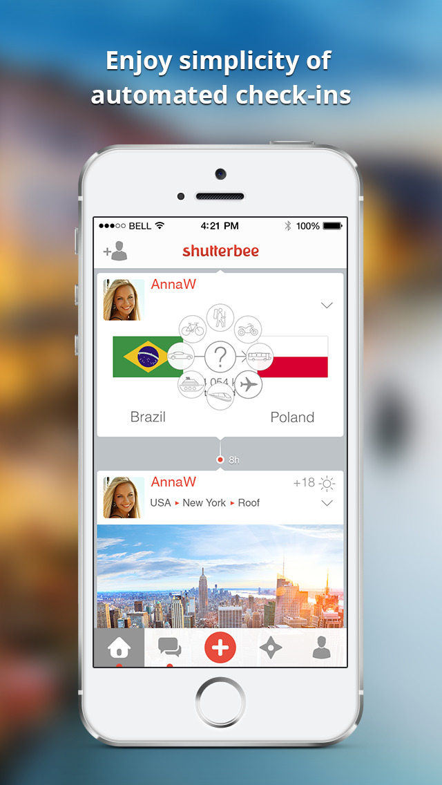 ShutterBee - map and share your travels screenshot 5