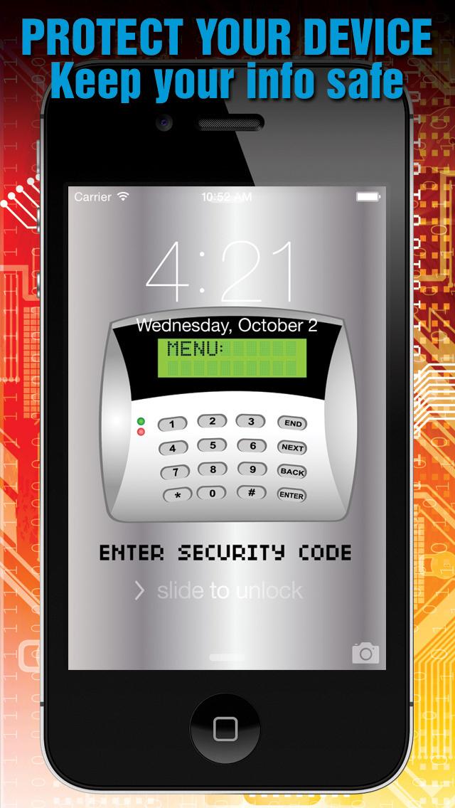 Lock Screen Fingerprint Illusion Wallpapers: iOS 8 Edition screenshot 1
