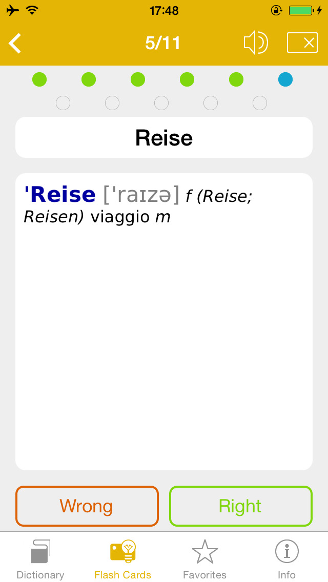 German <-> Italian Talking Dictionary Global Mondadori Langenscheidt screenshot 5