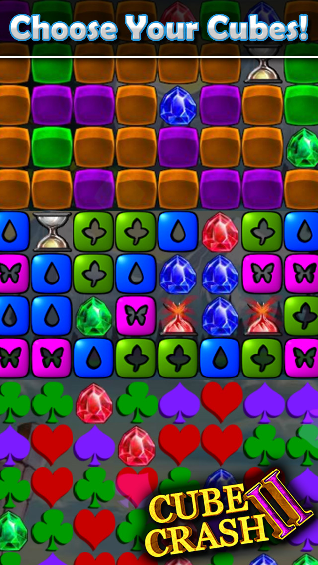 Cube Crash 2 Deluxe - The Default Match-3 Same-Game Puzzle screenshot 4