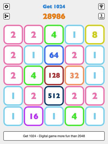 Get 1024 - More fun than 2048 screenshot 6