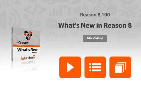 AV for Reason 100 - What's New in Reason 8 - náhled