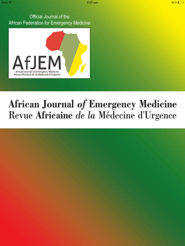 African Journal of Emergency Medicine screenshot 6