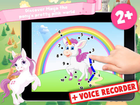 Kids Ponies Puzzle Teach me Tracing & Counting - Learn about pink ponies, cute fairies and princesses screenshot 6