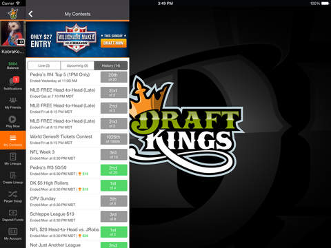 DraftKings Fantasy Football screenshot 8