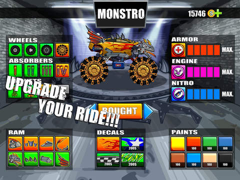 Mad Truck Challenge - Destroy cars and perform extreme stunts in this hill climb racing game screenshot 6