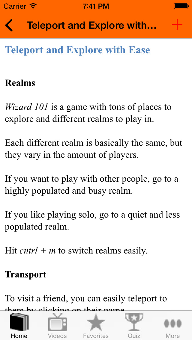 Guide for Wizard 101 screenshot 3