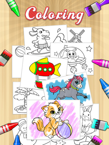 Kids Doodle Coloring Book HD - Color & Draw Kids games screenshot 6