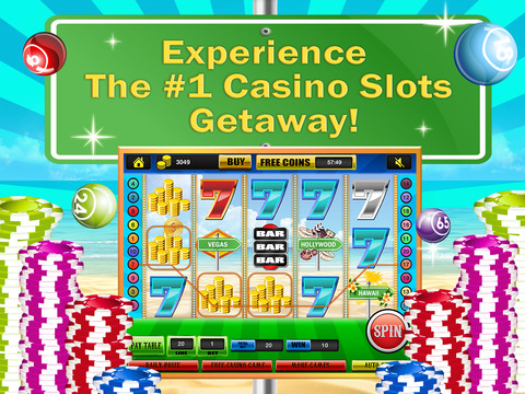 Ace Classic Vacation Slots Casino - Hawaii, Hollywood & Vegas Slot Machine Games Free screenshot 7