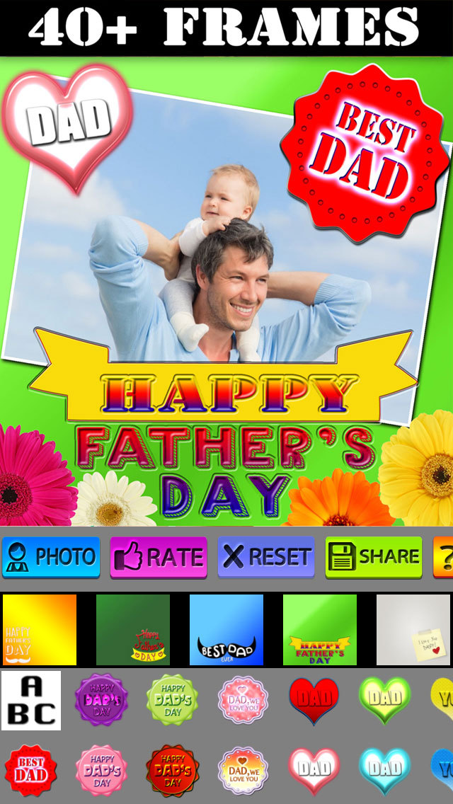 Father's Day Frame and Sticker screenshot 1