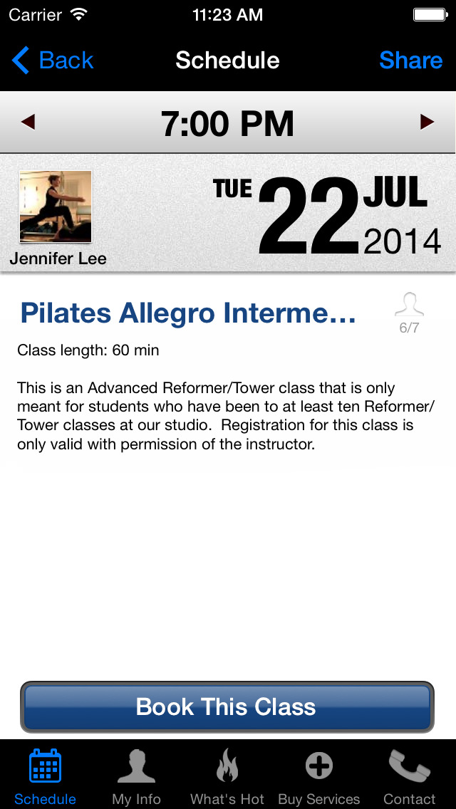 Spencer Pilates Arts screenshot #3
