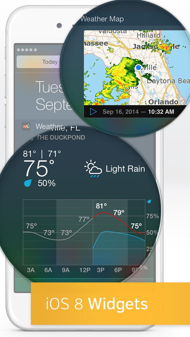 Weather Underground: Local Map screenshot 2