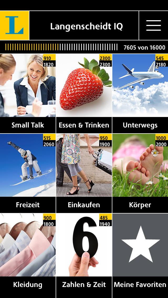 Schwedisch Vokabeltrainer Langenscheidt IQ - Vokabeln lernen mit Bildern screenshot 1