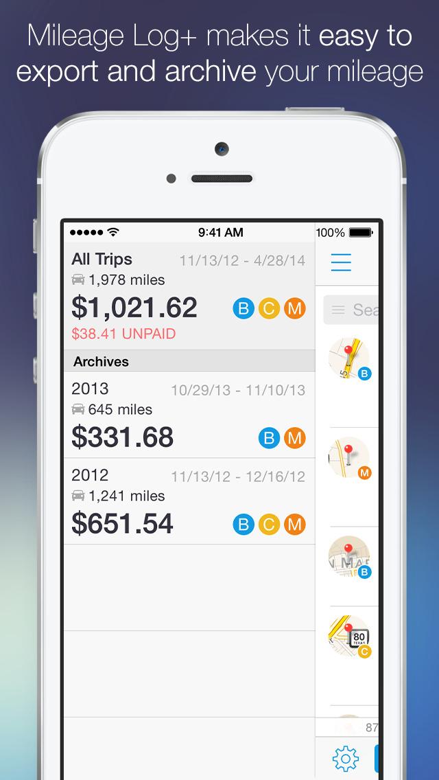 Mileage Log+  Trip Log Tracker screenshot 2