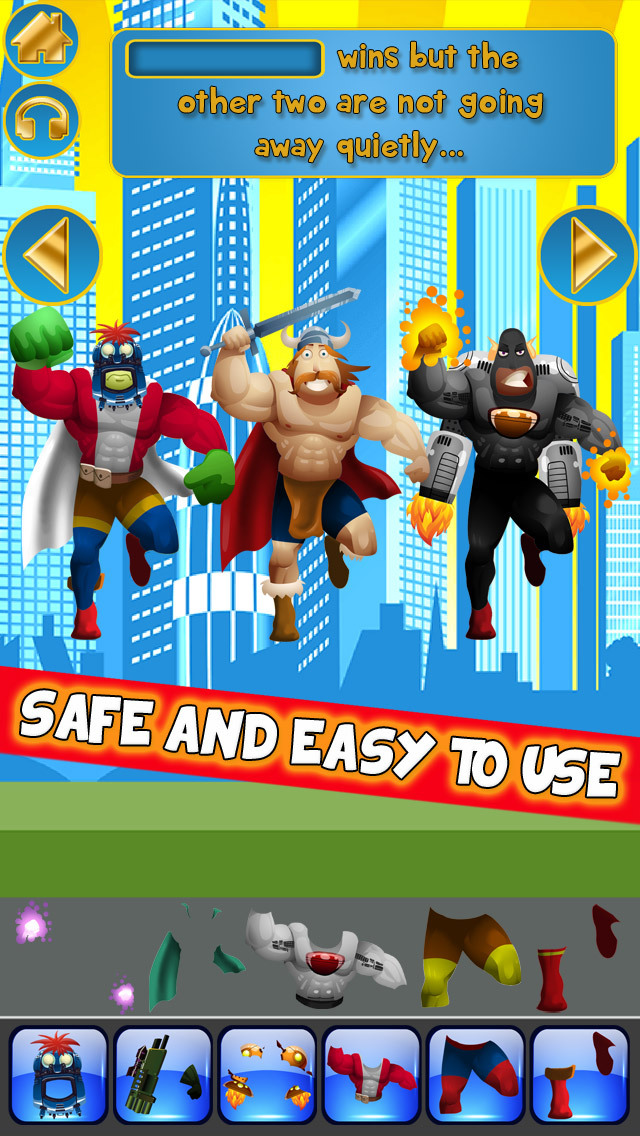 Create My Own Interactive Action Superheroes And Super Villains Story Books Advert Free Game screenshot 5