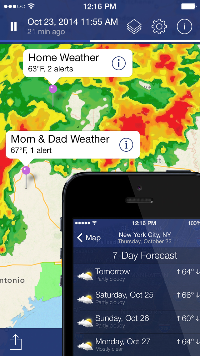 NOAA Radar Pro: Weather Alerts screenshot 1