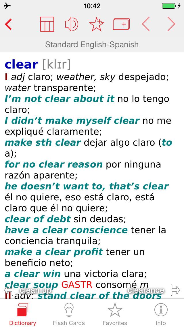 Spanish - English Berlitz Standard Talking Dictionary screenshot 1