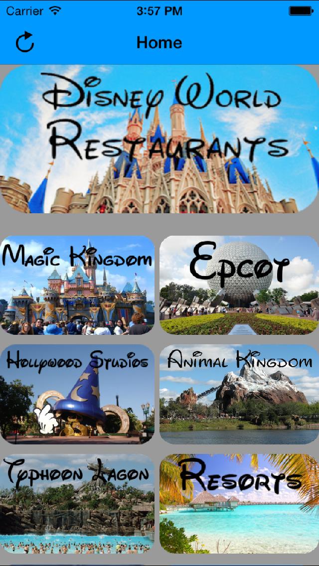 Disney World Restaurant Guide screenshot 1