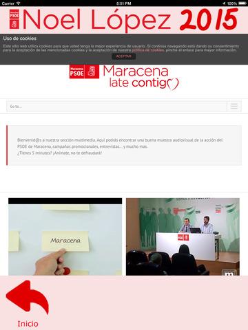 Noel2015 - Noel López - candidatura del Partido Socialista a la alcaldía de Maracena (Granada, España) screenshot 8