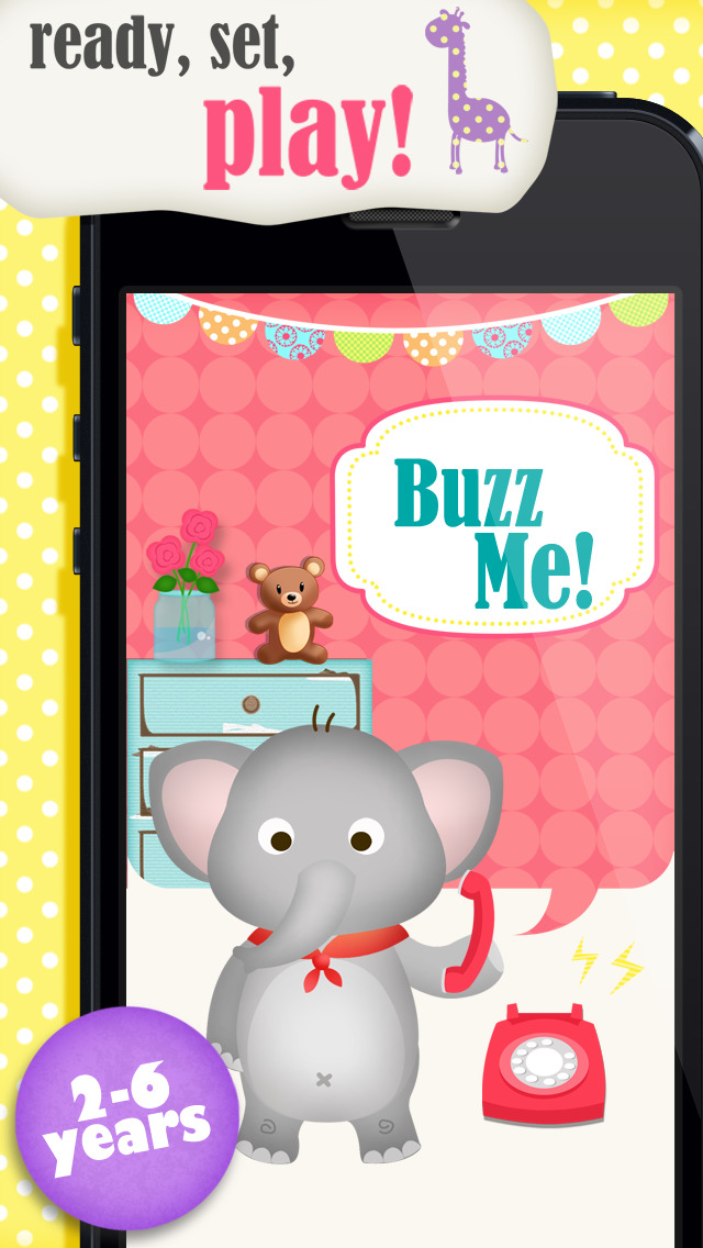 Buzz Me! Kids Toy Phone Free - All in One children activity center screenshot 1