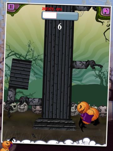 Monster Tower - Halloween Tree Chopping Pumpkin Man screenshot 5