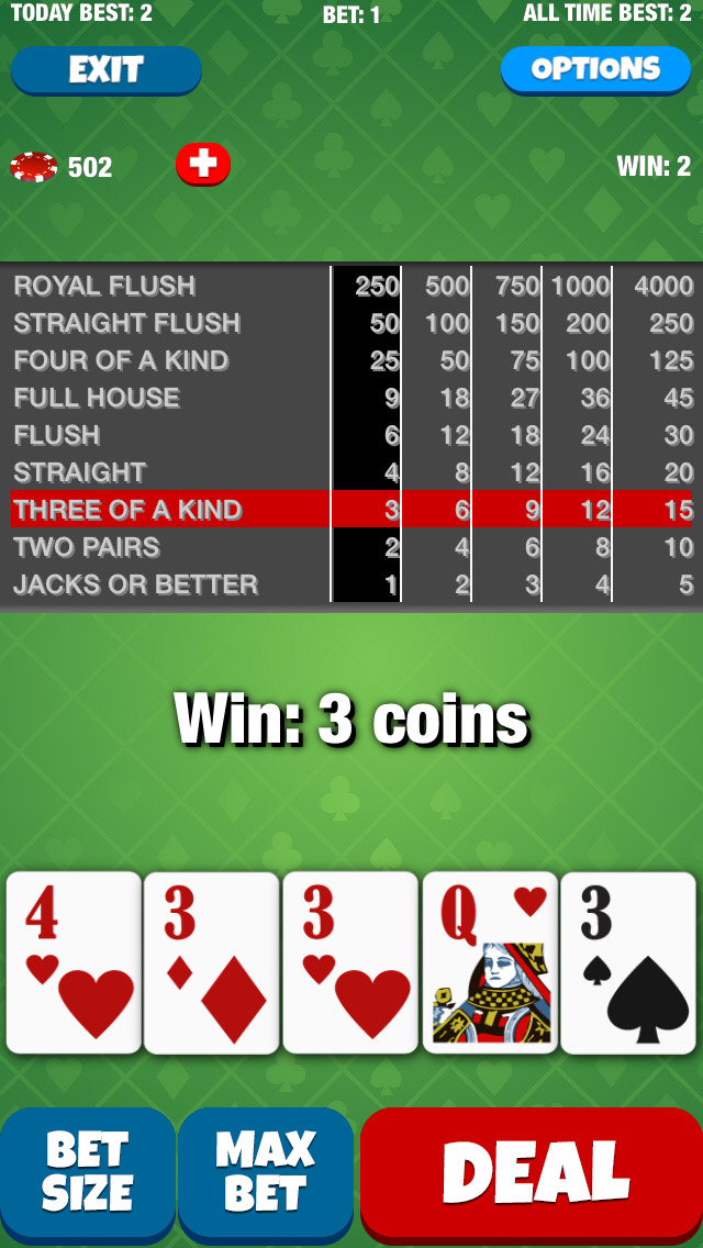 Joker Face Poker screenshot 3