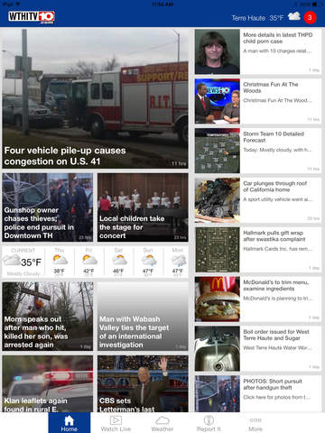 WTHI News 10 - Terre Haute News and Weather | Apps | 148Apps