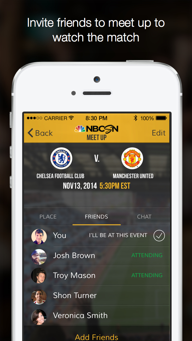 NBC Sports MatchMaker screenshot 2