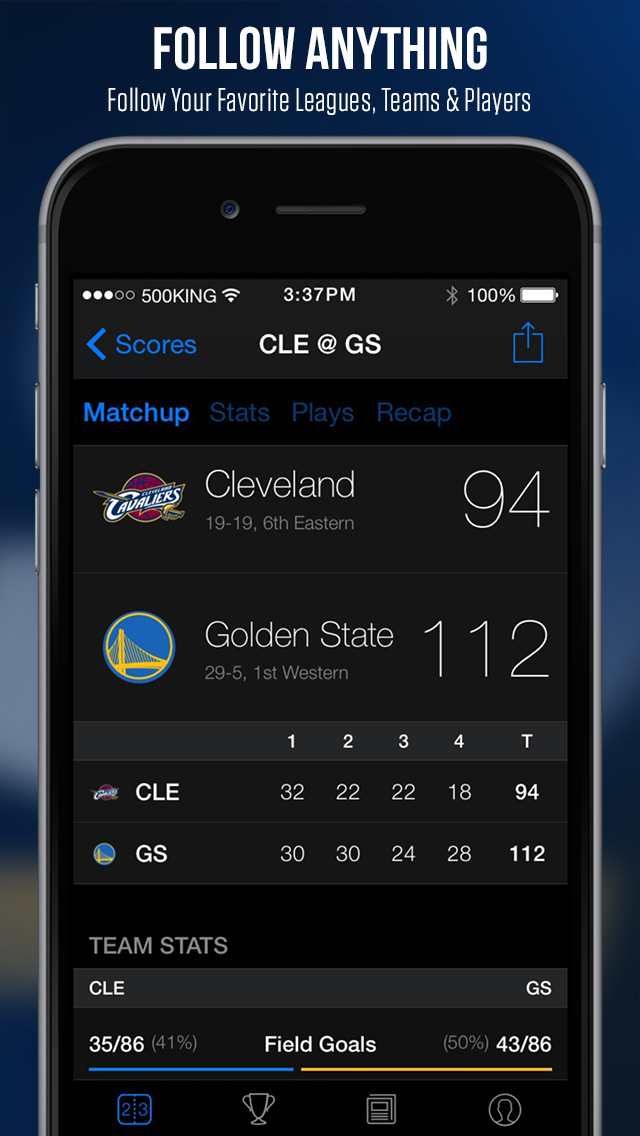 theScore: Sports News & Scores screenshot 2